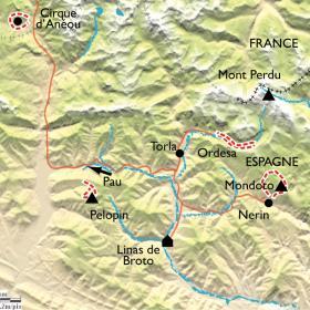 Carte Réveillon en Aragon, Parc National d'Ordesa