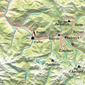 Carte Val d'Aran et Encantats, Réveillon dans les montagnes enchantées