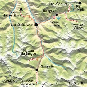Carte Raquettes Balnéo, Néouvielle Gavarnie