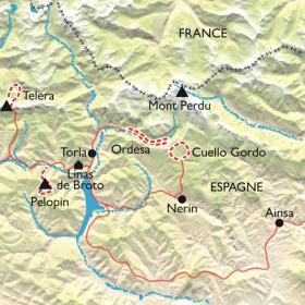Carte Parc d'Ordesa-Mont Perdu, en douceur !