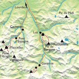 Carte Ski de rando Gavarnie - Massif du Néouvielle, facile et sublime !