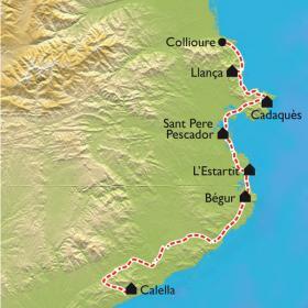 Carte Collioure - Cadaquès - Calella, la Costa Brava à VTT