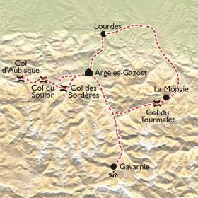 Carte Stage du Tourmalet, avec moniteur