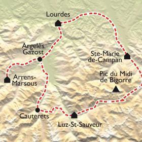 Carte Tour du Pic du Midi et Tourmalet en VTT électrique