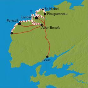 Carte Les Abers, une côte sauvage