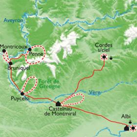 Carte Villages et Bastides en Albigeois, les histoires qui ont fait l'Histoire