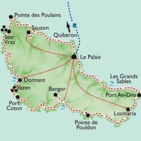 Carte Le tour de Belle-île-en-mer
