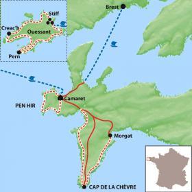 Carte La presqu'île de Crozon et Ouessant, quand finit la terre...