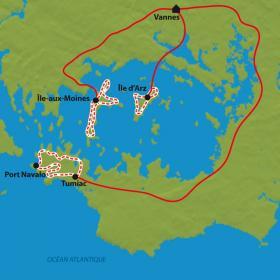 Carte Golfe et îles du Morbihan