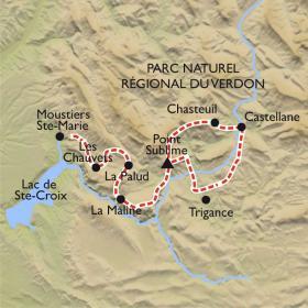 Carte Sublime Verdon, le plus grand canyon d'Europe