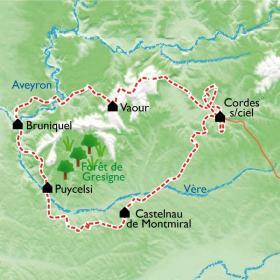 Carte Albi et les Bastides Albigeoises