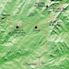 Carte Bavella, multiactivités en montagne Corse