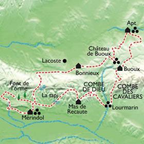 Carte Lubéron, le Colorado Provençal