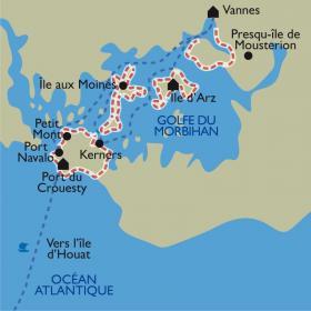 Carte Le Golfe du Morbihan et l'île d'Houat