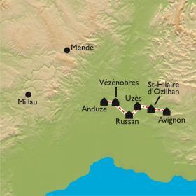 Carte Urbain V d'Anduze à la Cité de Pape,  Avignon
