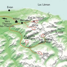 Carte Au pays du Léman, Raquettes et Bien Être