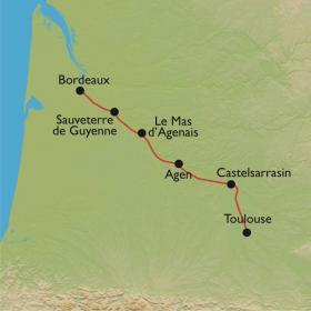 Carte Le Canal de la Garonne, de Bordeaux à Toulouse