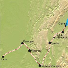 Carte La Via Rhona à vélo électrique