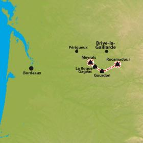 Carte Traversée du Périgord et Quercy en liberté