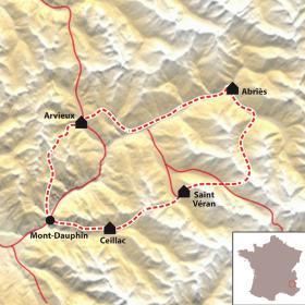 Carte Le Tour du Queyras en VTT accompagné