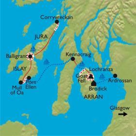 Carte Odyssée dans les Hébrides