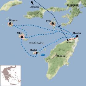 Carte Les perles du Dodecanese