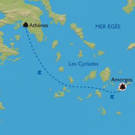 Carte Les Cyclades - Amorgos