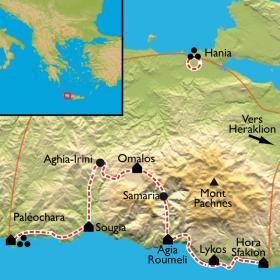 Carte Crète, sur les traces de Zeus