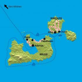 Carte Les Cyclades, Milos & Kimolos
