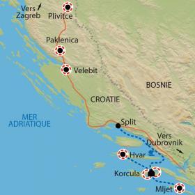 Carte Les perles de l'Adriatique