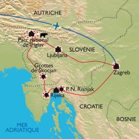 Carte Des Alpes Juliennes aux chaînes Dinariques