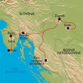 Carte les secrets de la Croatie du nord
