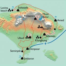 Carte Bali, en tongs et en sarong !