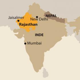 Carte VILLAGE WAYS, Rajasthan et désert du Thar