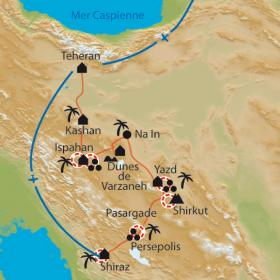 Carte Désert et joyaux d'Iran
