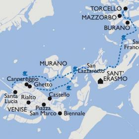Carte Les îles de Venise et le Carnaval
