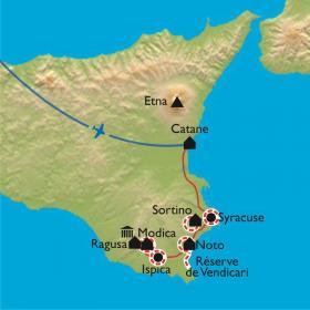 Carte Sicile, J'aimerais tant voir Syracuse...