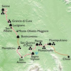 Carte Toscane, authentique et romantique...