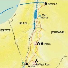 Carte De la route des Rois à Aqaba