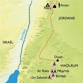Carte Le désert du Wadi Rum