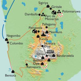 Carte Sri Lanka  un goût de Paradis