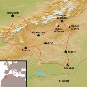 Carte Découverte du sud marocain