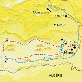 Carte Randonnée et yoga dans le désert marocain