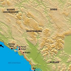 Carte Le Monténegro hors sentiers battus