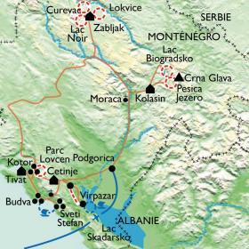 Carte Grand Tour du Monténégro