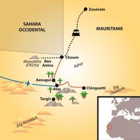 Carte Le train du désert