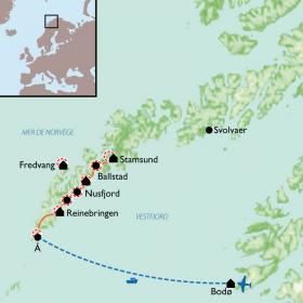 Carte Les îles Lofoten