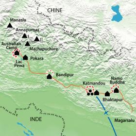 Carte Des Annapurnas à Katmandou, à la croisée des chemins