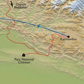 Carte Extension à Chitwan