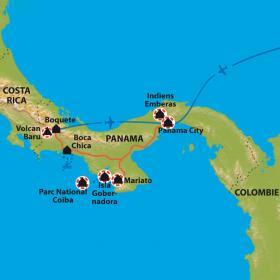 Carte A la découverte du Panama authentique